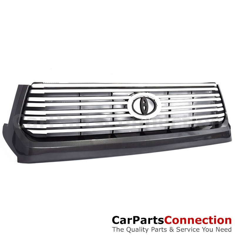 Grille Platinum: Platinum Style Front Center Grille 1G3 Magnetic Gray