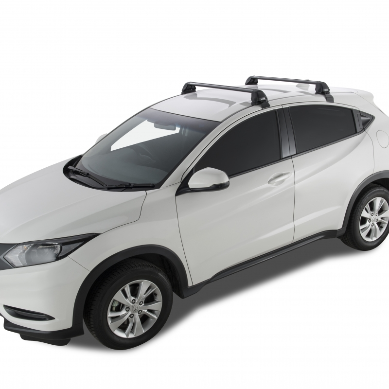 Rhino-Rack Vortex 2500 RS Black 2 Bar Roof Rack Compatible with Honda HR-V 4dr SUV Bare Roof 2015 to 2018